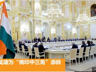 """俄罗斯卫星网:普京与莫迪为""""俄印中三角""""添砖加瓦"""