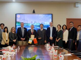 UCC President Patrick O'Shea visited SAIAS